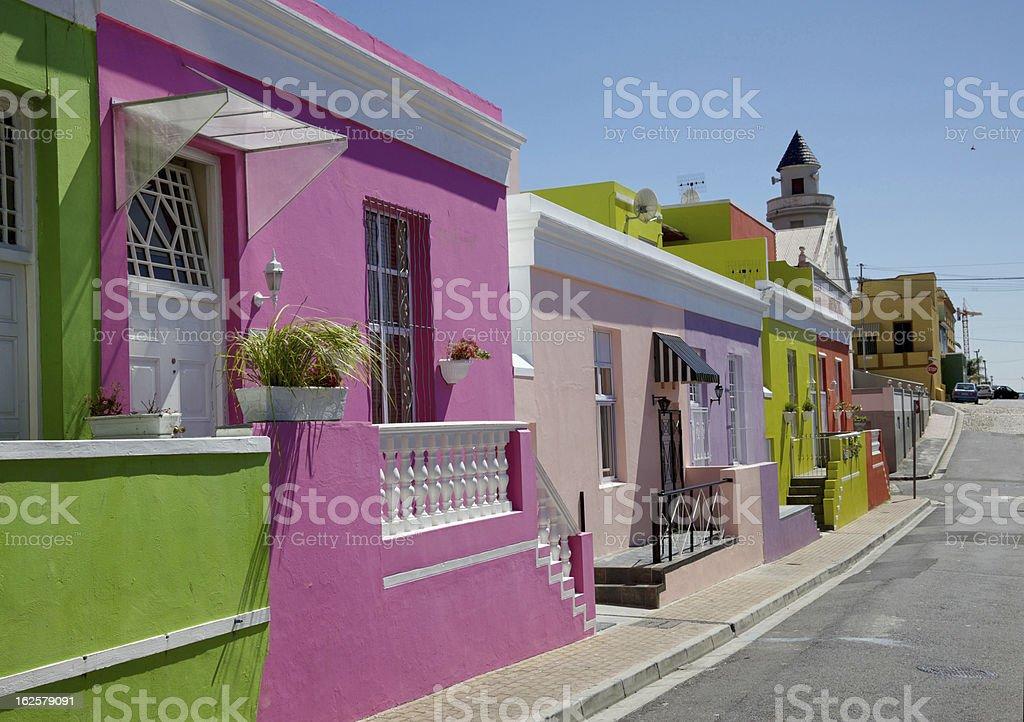 Bo Kaap Cottages stock photo