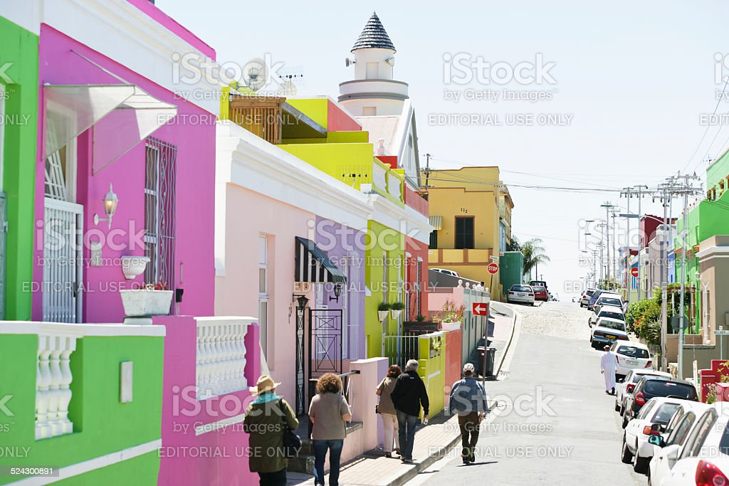 Bo Kaap in Cape Town stock photo