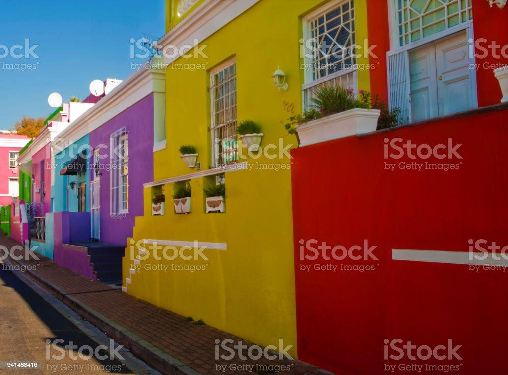 Bo Kaap Malasian quarter in Cape Town stock photo