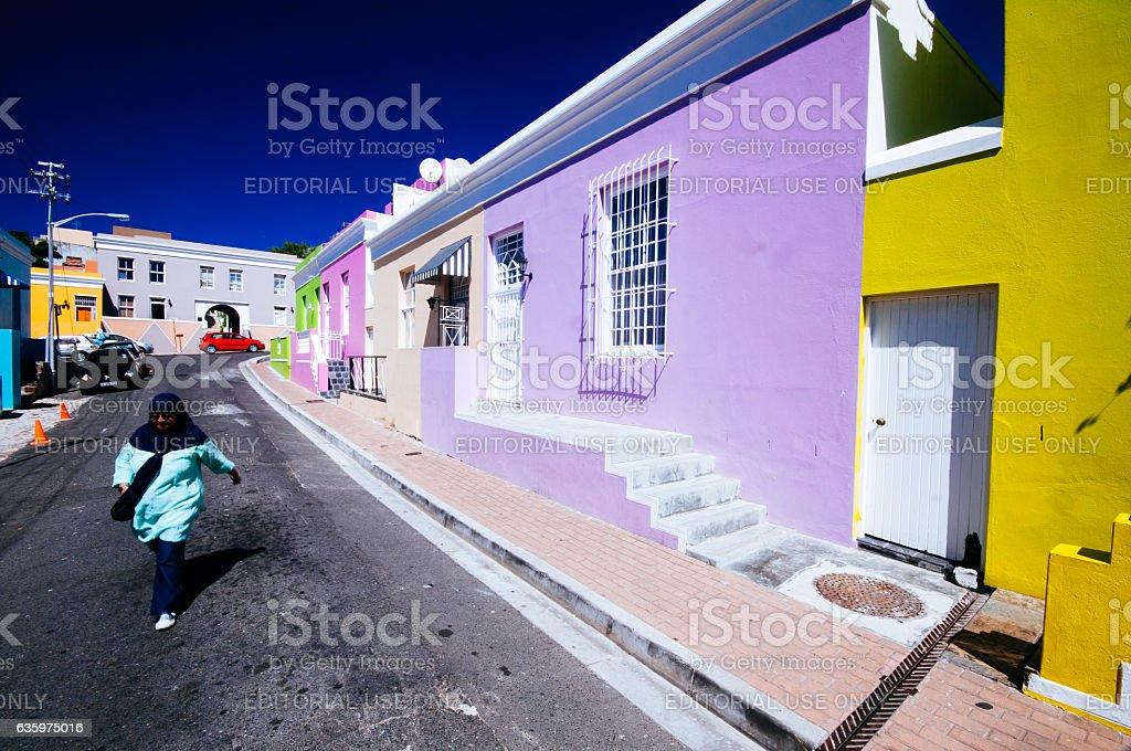 Bo kaap suburbs,Cape Town, South Africa stock photo