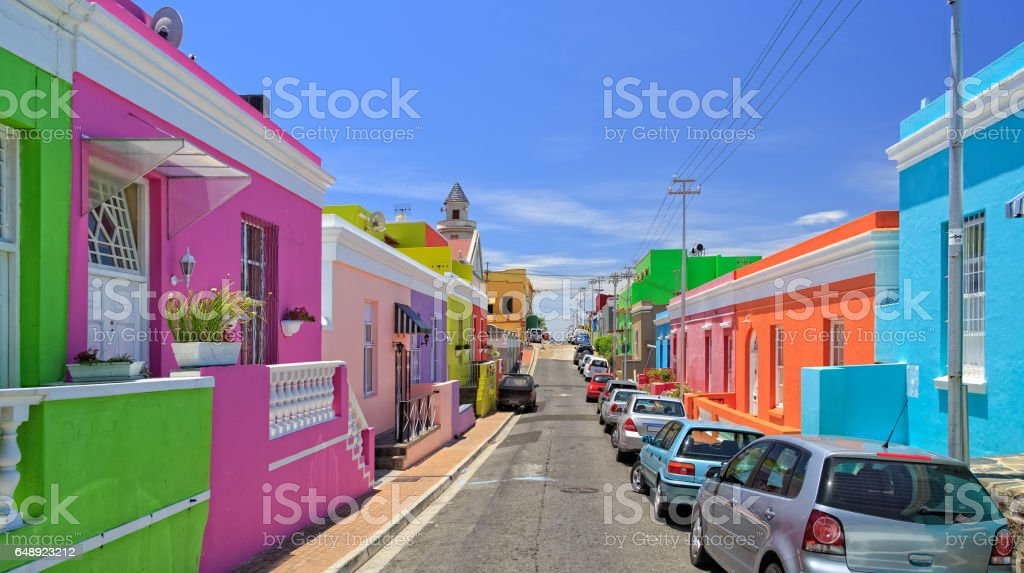 Bo Kaap Township in Cape Town stock photo
