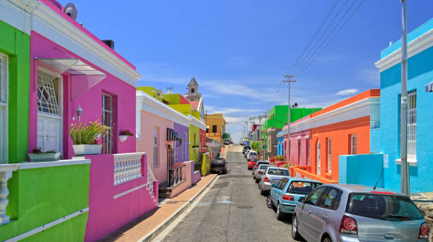 canton de bo kaap à cape town - république d'afrique du sud photos et images de collection