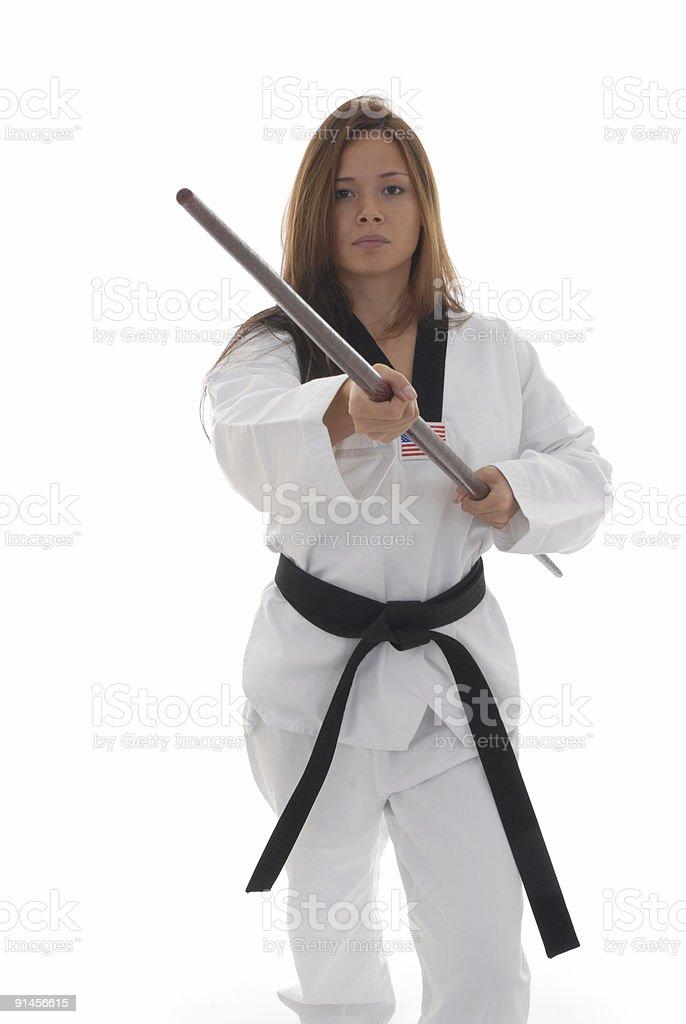 Ash Hardwood Fighting Bo Staff Traditional Martial Arts Training Bo Staff