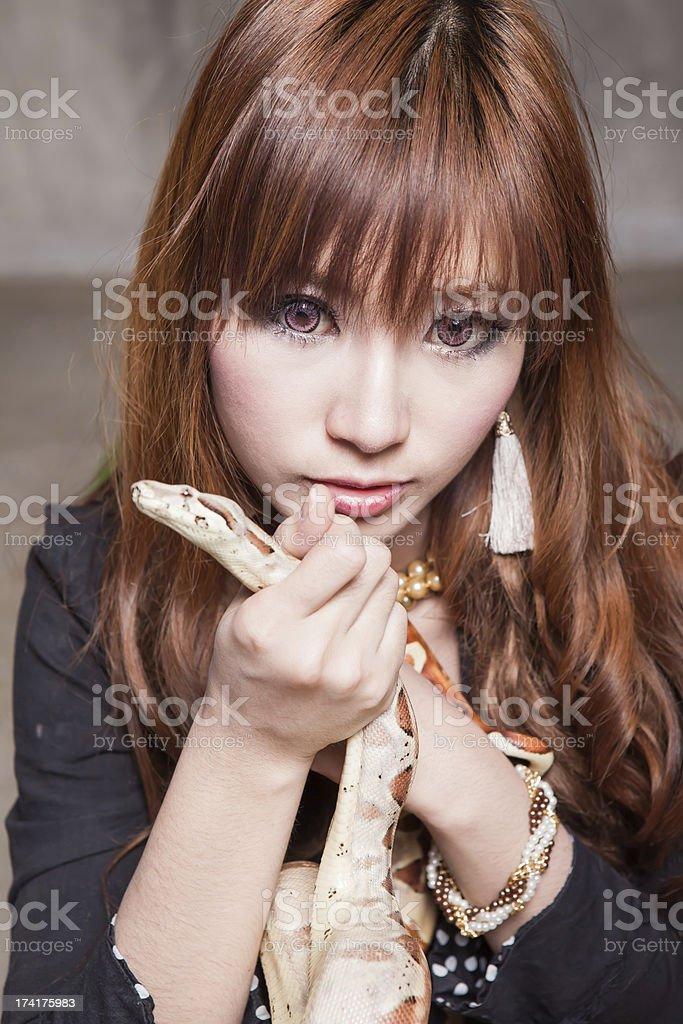 Boa and Beauty royalty-free stock photo