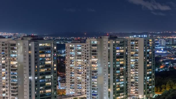 Boa Viagem Nachbarschaft bei Nacht – Foto