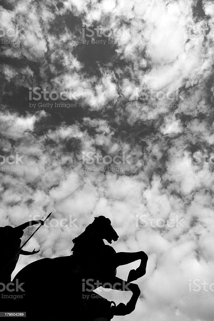Boadicea statue London England. stock photo