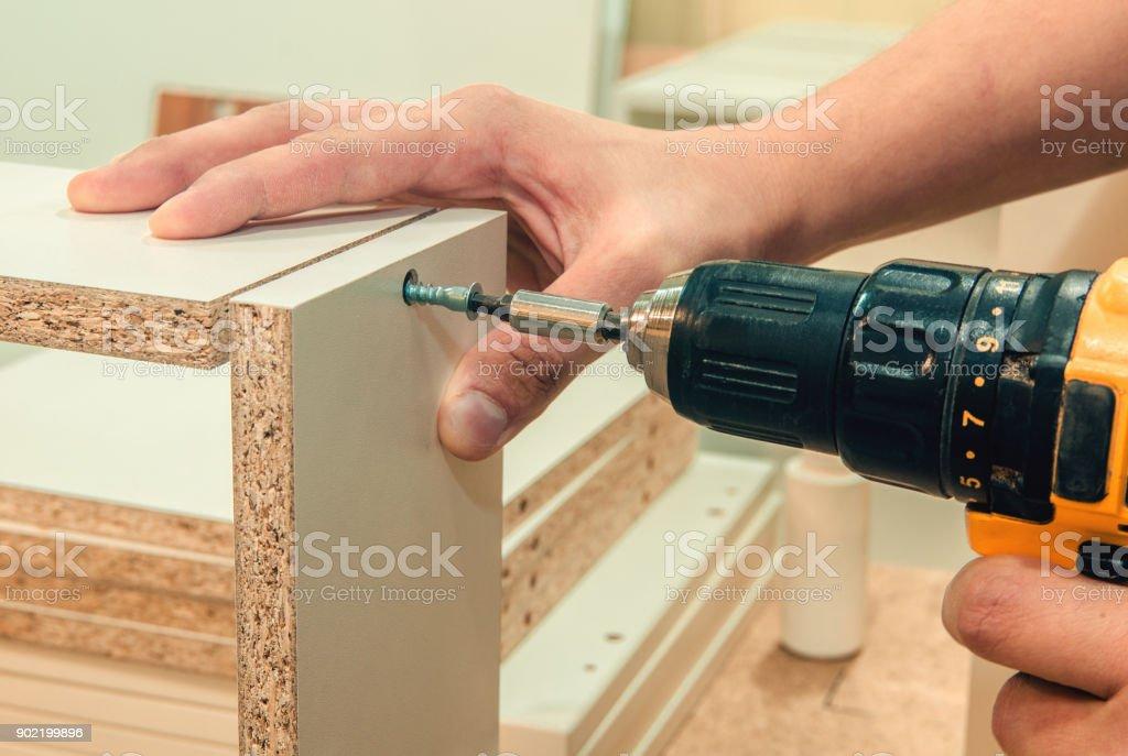 board chipboard cut parts stock photo