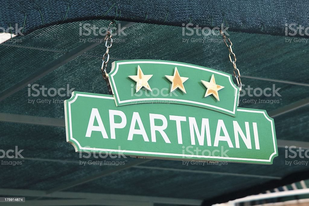 Board for rent apartment royalty-free stock photo