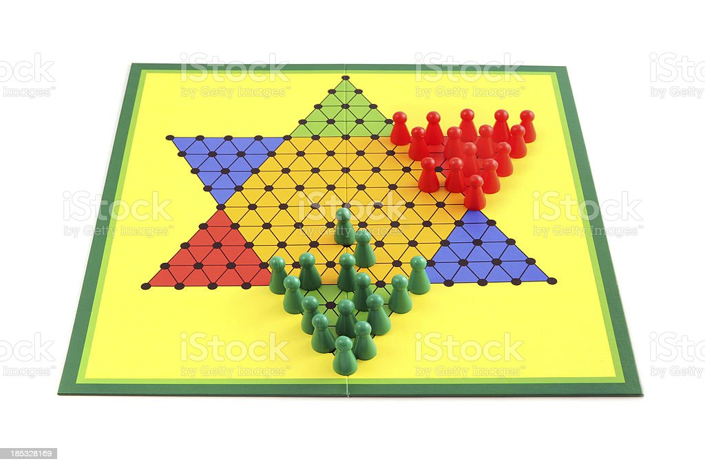 Board game chinese checkers royalty-free stock photo