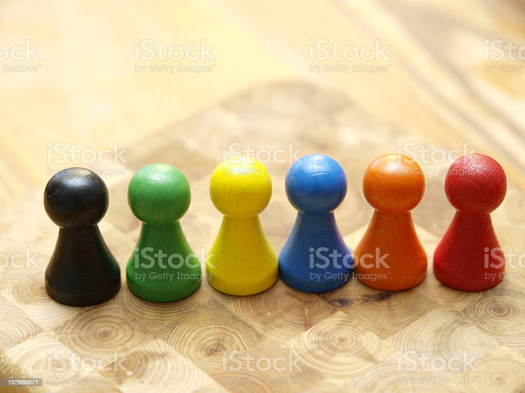 Board Game Pieces stock photo