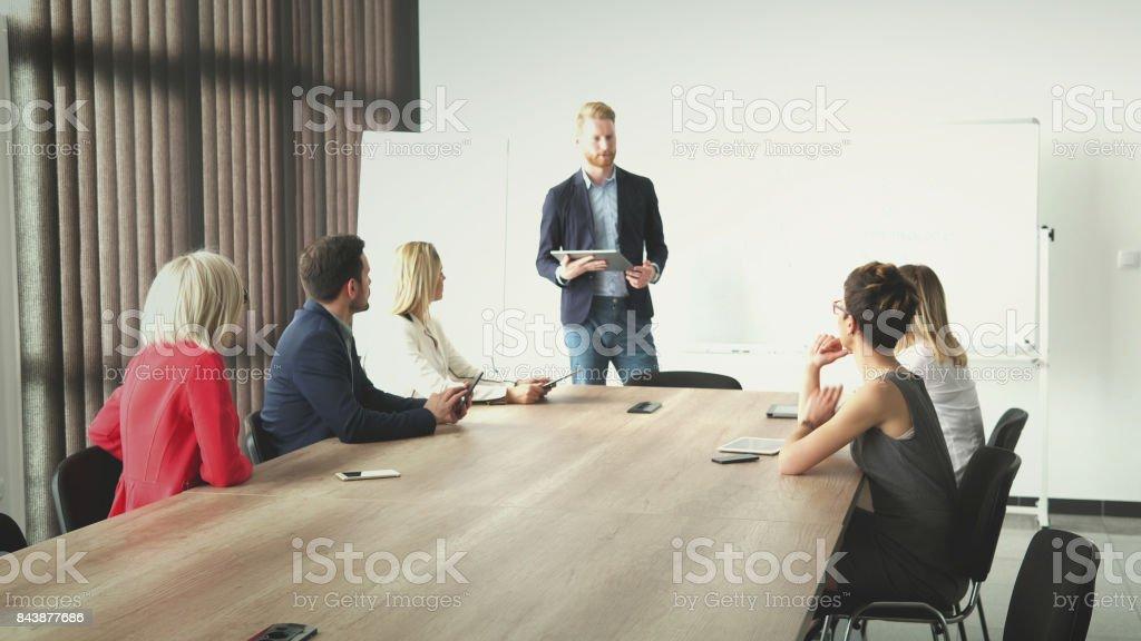 Board meeting stock photo
