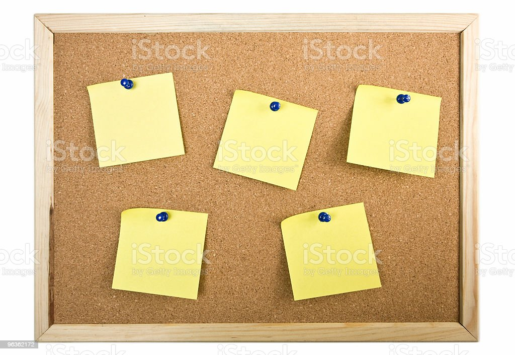 Board + Notes royalty-free stock photo