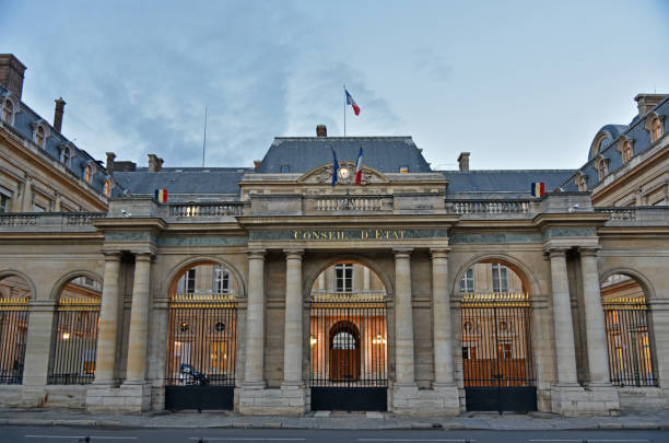 Board of state Paris (Conseil d'Etat ) Paris , France - november 2017, the Council of State of the french government which is located in the Palais Royal. civil servant stock pictures, royalty-free photos & images
