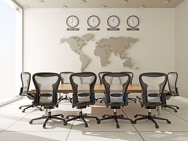 Board Room in Modern Office Board Room in Modern Office governing board stock pictures, royalty-free photos & images