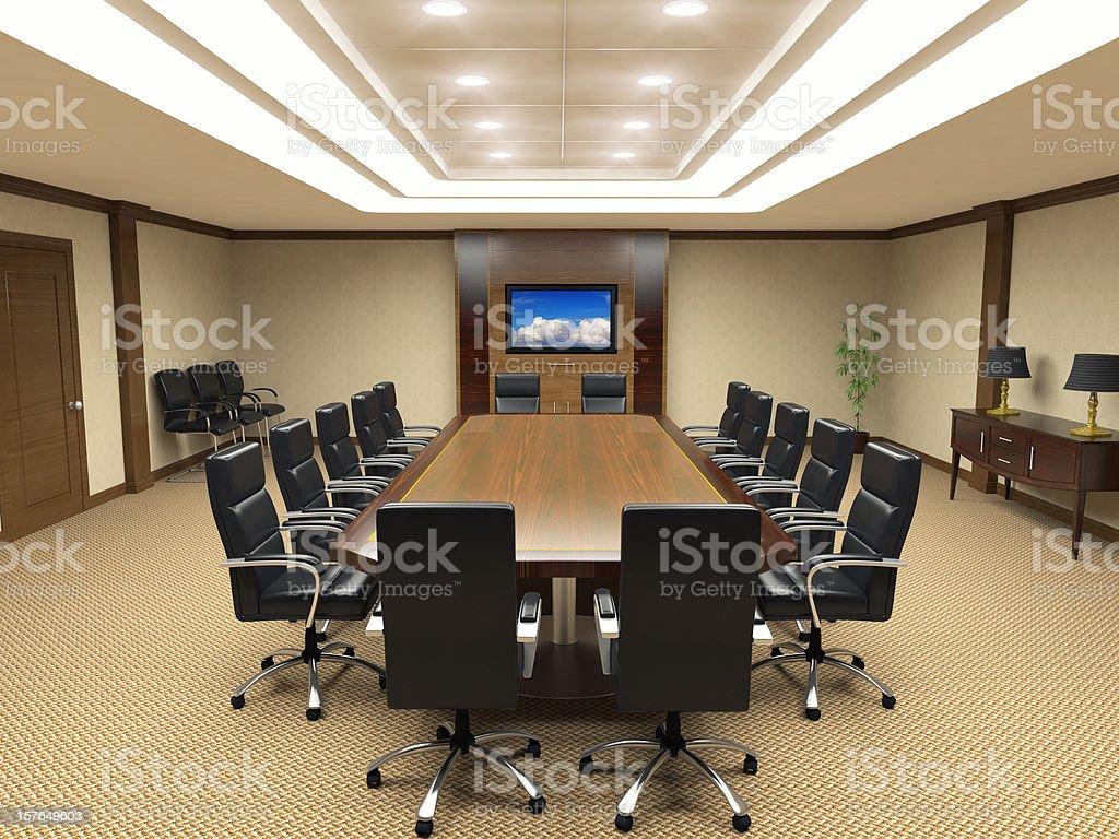 Board Room Interior royalty-free stock photo