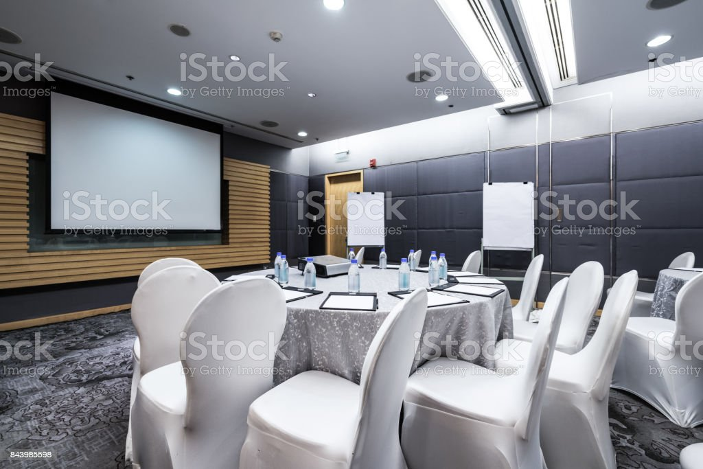 Board room interiors stock photo