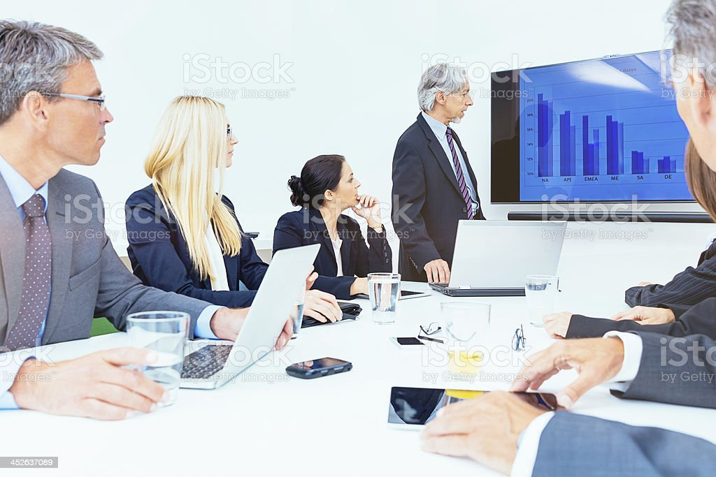 Board Room Meeting Business Team royalty-free stock photo