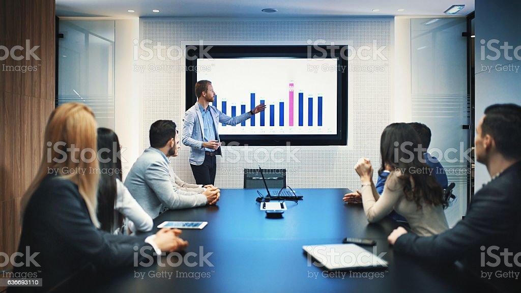 Board room meeting. stock photo