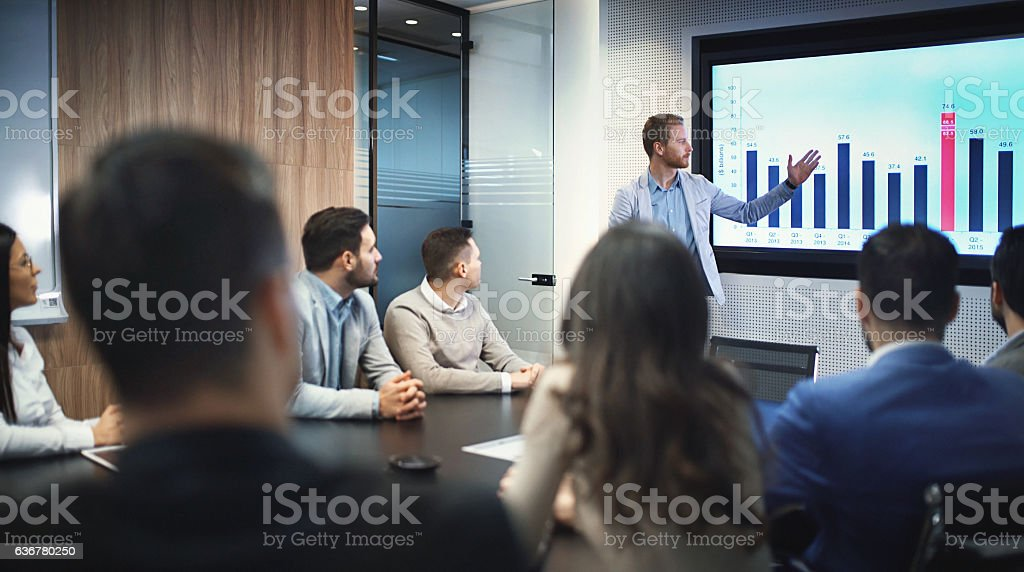 Board room meeting. stock photo