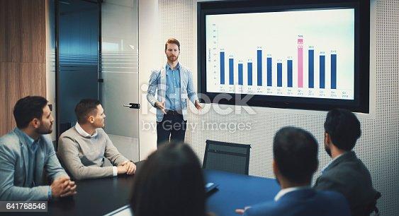 istock Board room meeting. 641768546