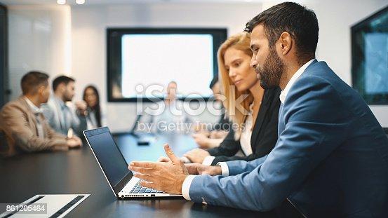 istock Board room meeting. 861205464