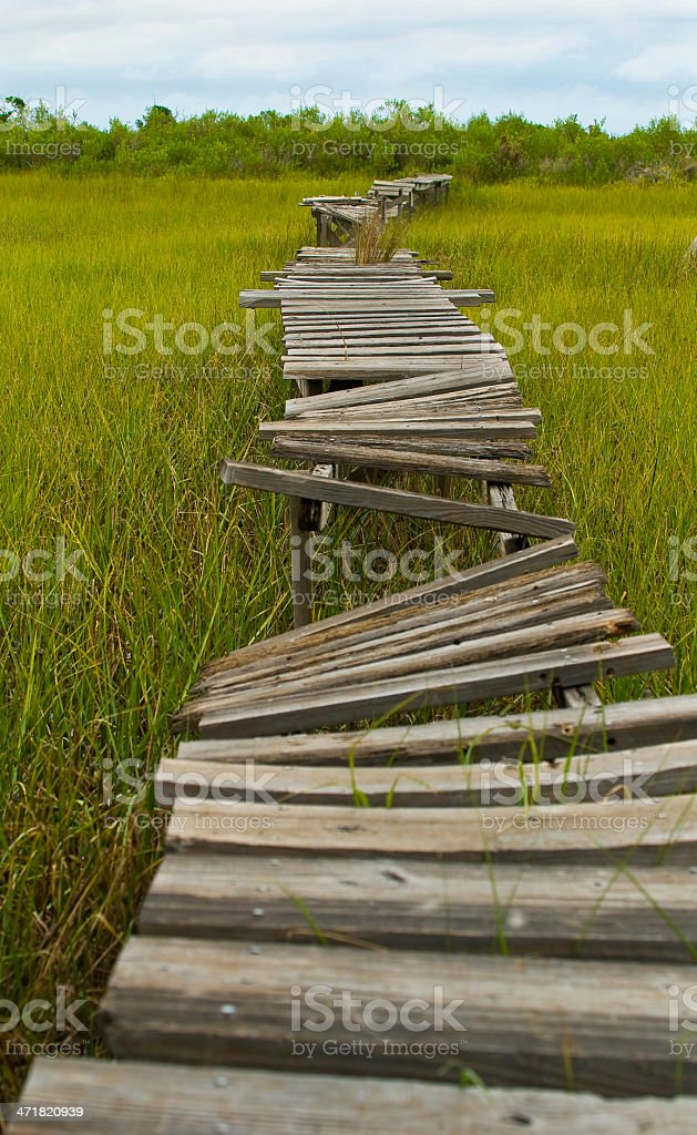 Board Walk Busted royalty-free stock photo