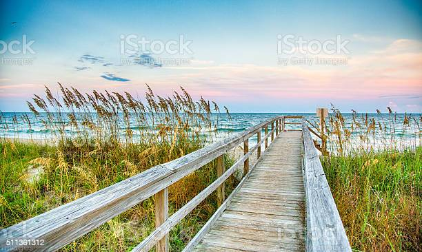 Public Beach access on Kure Beach on North Carolina's Atlantice coast.