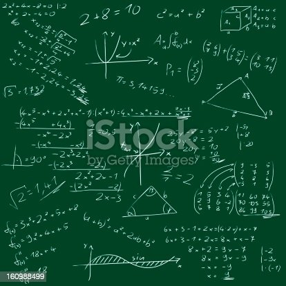 istock Board with mathematical formulas 160988499