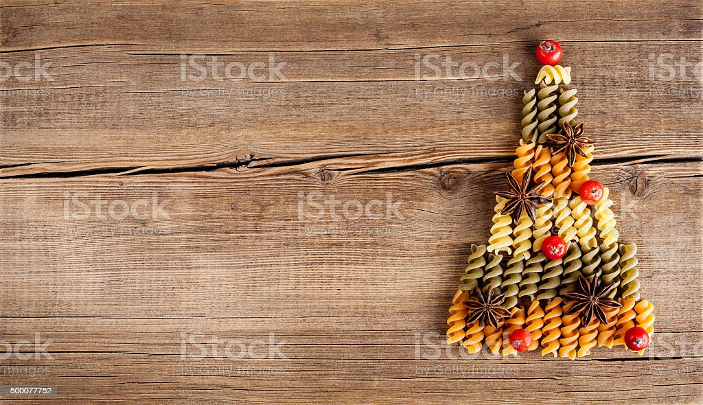 Board with natural decorations on wooden background stock photo