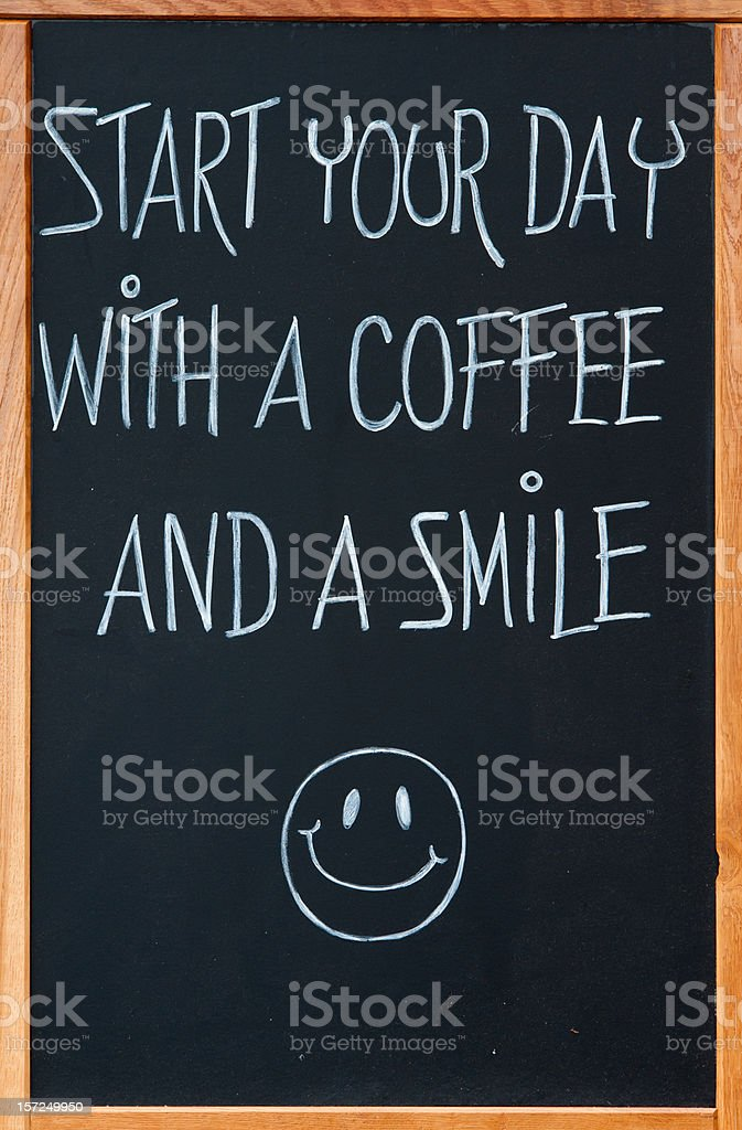 Board with slogan stock photo