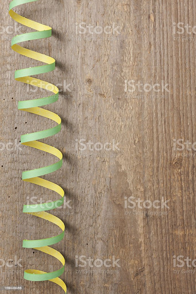 Board with streamers royalty-free stock photo