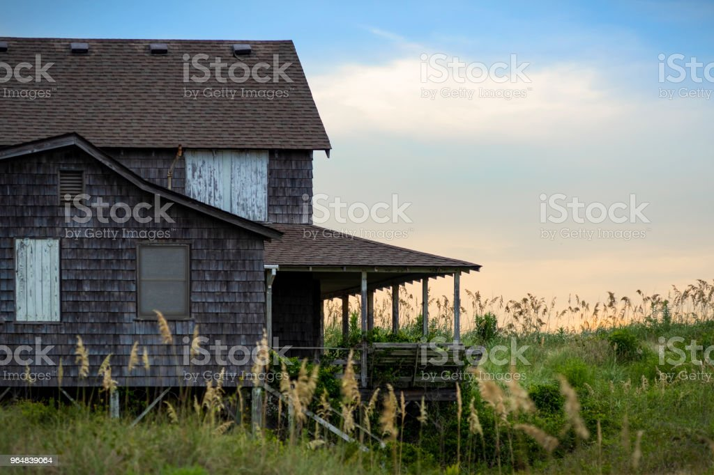 Boarded up beach house royalty-free stock photo