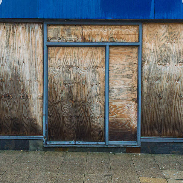 Boarded Up stock photo