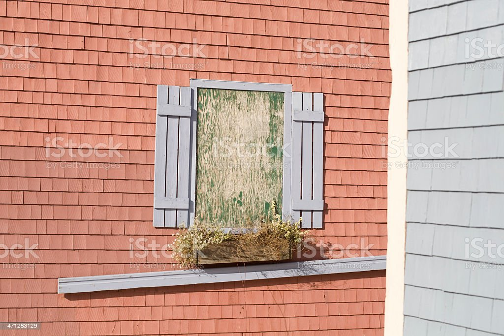Boarded up royalty-free stock photo