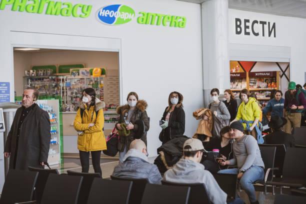 Einsteigen nach New York während der Coronavirus-Pandemie – Foto