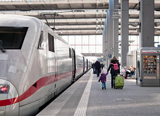 boarding a train - munich train station bildbanksfoton och bilder