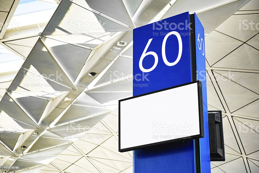 Boarding gate royalty-free stock photo