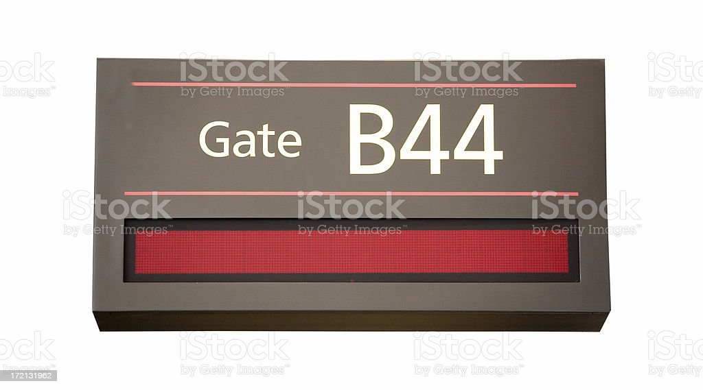 Boarding Gate Sign royalty-free stock photo