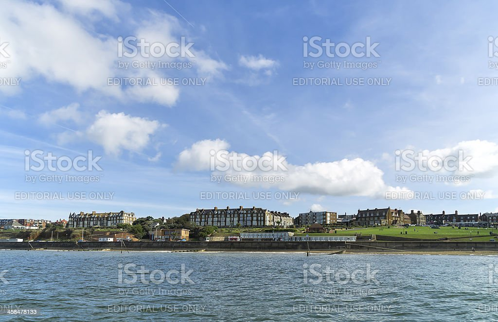 Boarding houses and Hunstanton Green royalty-free stock photo