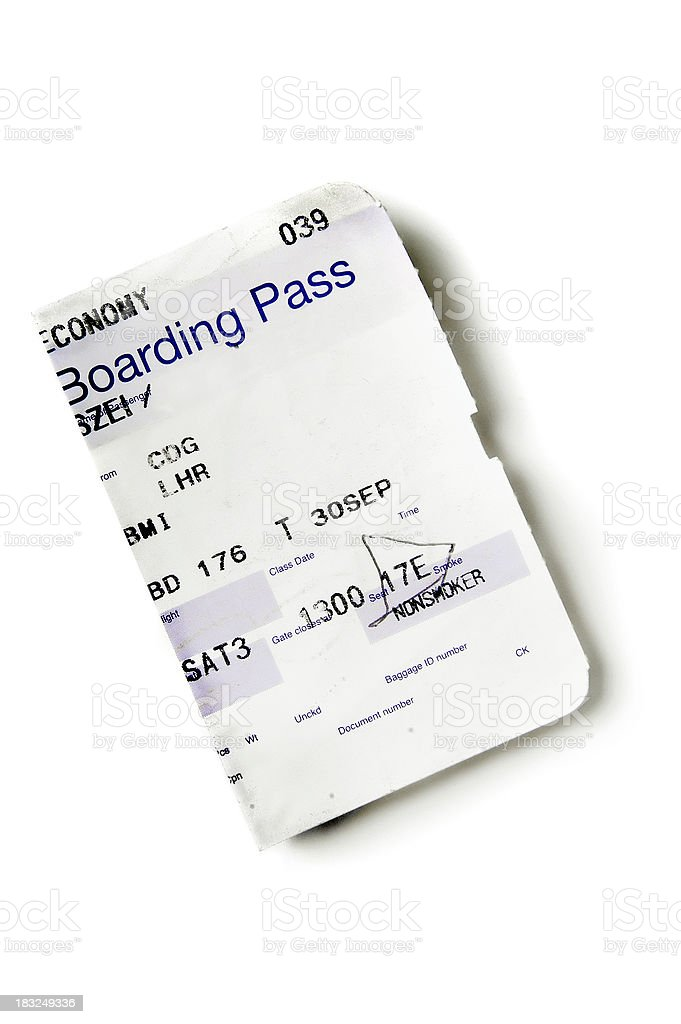 boarding pass 001 royalty-free stock photo
