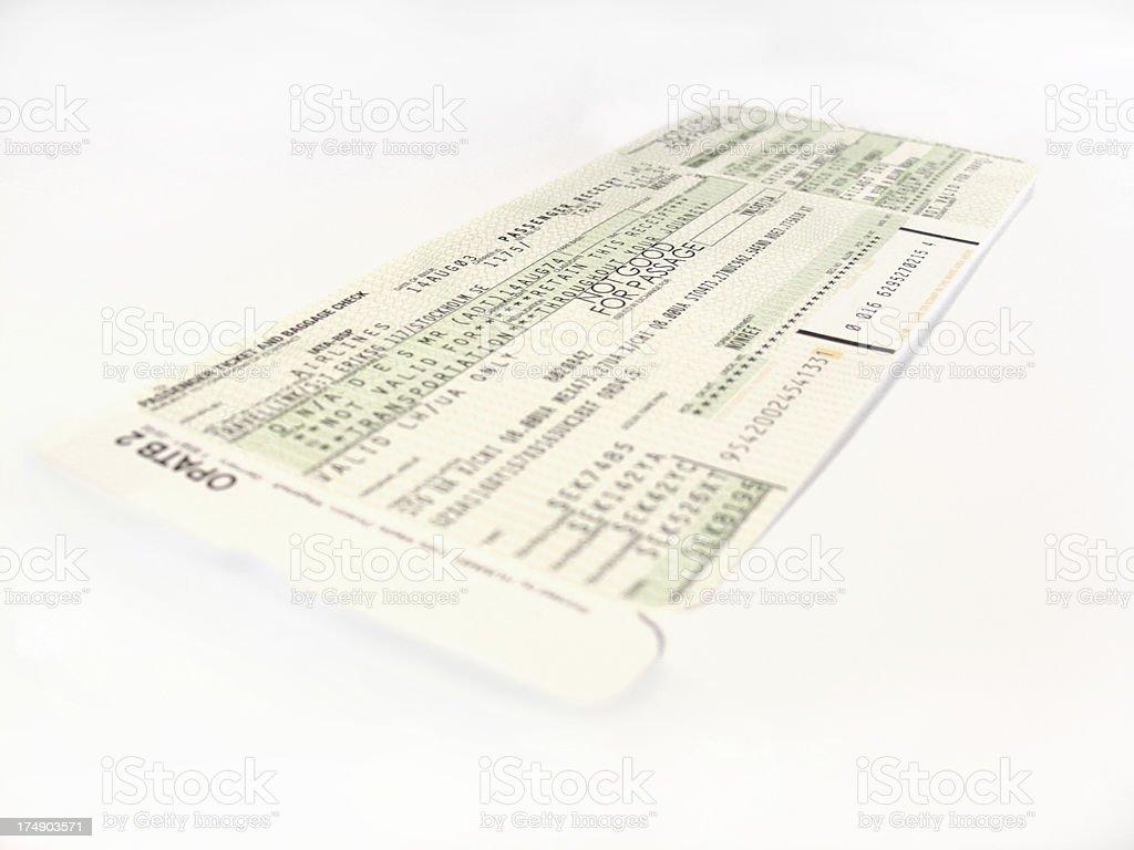 boarding pass royalty-free stock photo