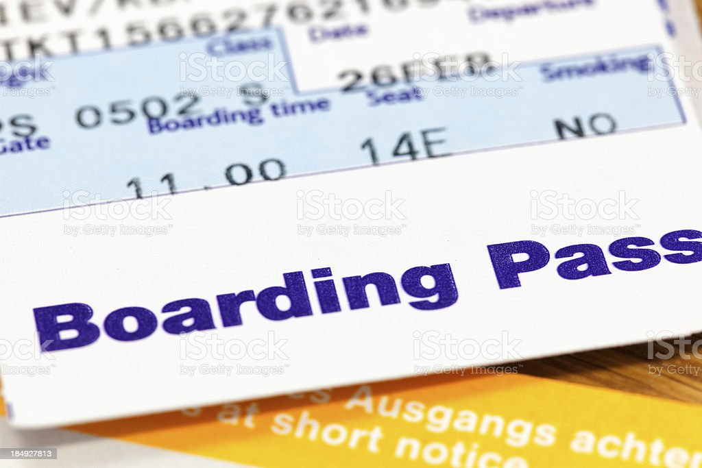 Boarding pass royalty-free stock photo