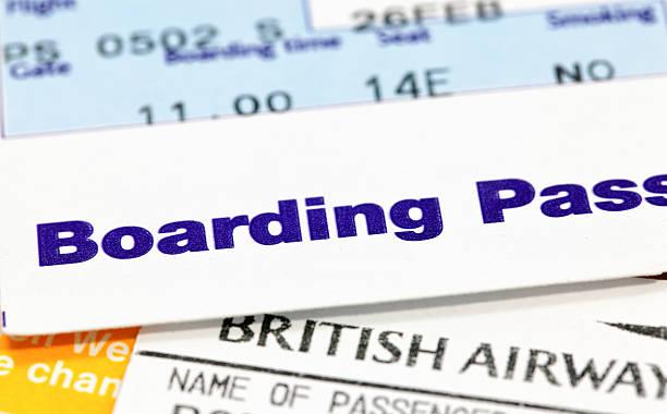 Bordkarte pass – Foto