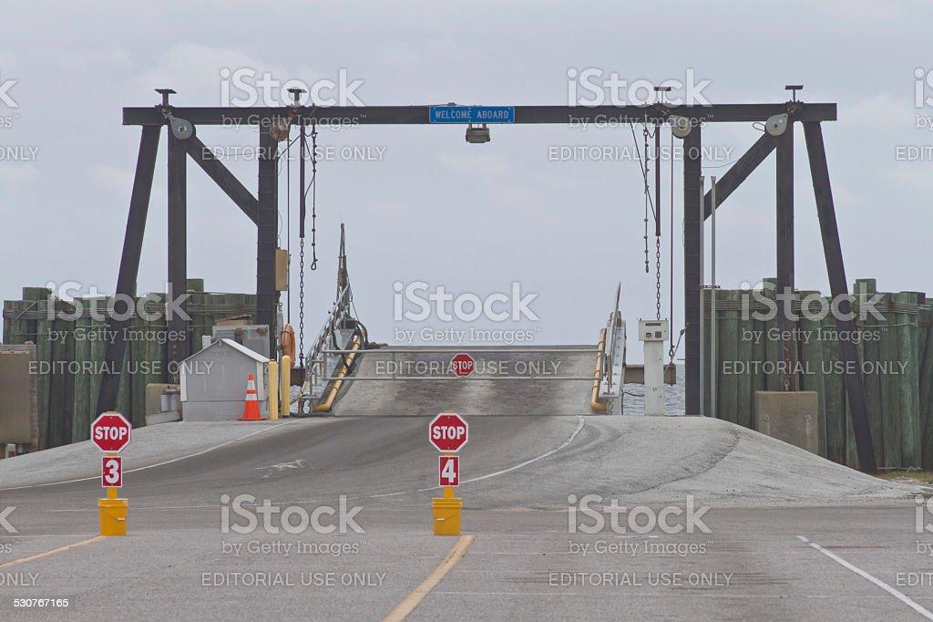 Boarding the Ocracoke Ferry stock photo