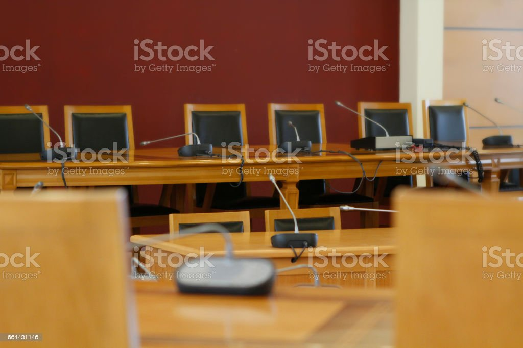 boardroom bearings and chairs stock photo