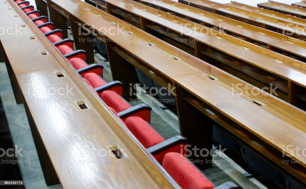 boardroom bearings and red chairs stock photo