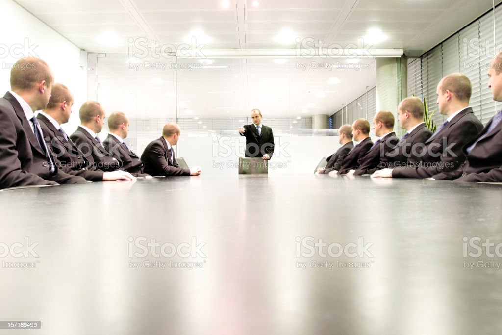 Boardroom blame royalty-free stock photo