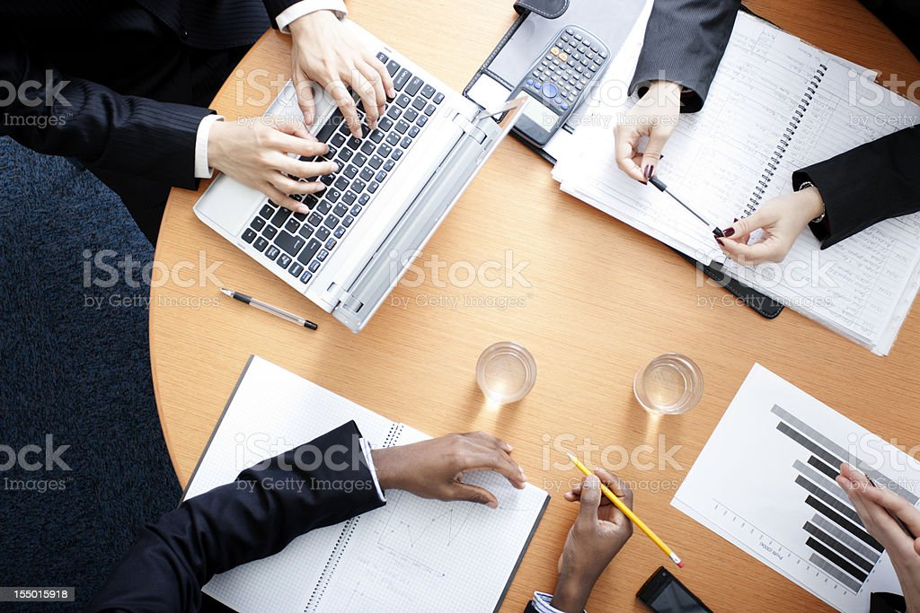 Boardroom conference royalty-free stock photo