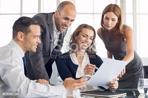 istock Boardroom meeting at office 825082730