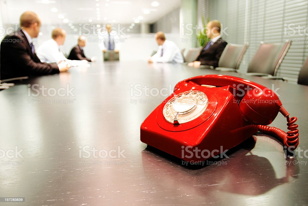 Boardroom meeting royalty-free stock photo